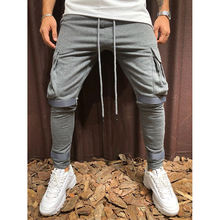 Sport Style Drawstring Design Side Pockets Solid Cotton Pant For Men