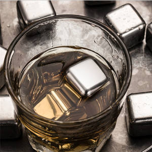Amazon Hot Selling Whiskey Chilling Stones Stainless Steel Ice Cube for Bar Accessories