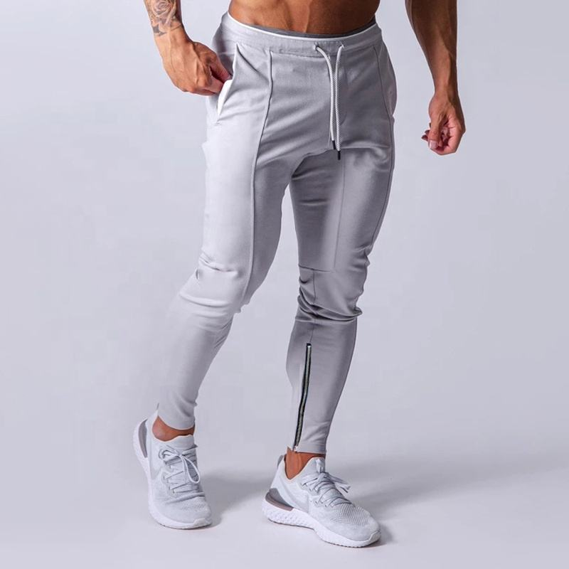 Wholesale Jogger Pants Men Reflective Track Pant Trouser Zip Leg Opening Close-Fitting Sweatpants