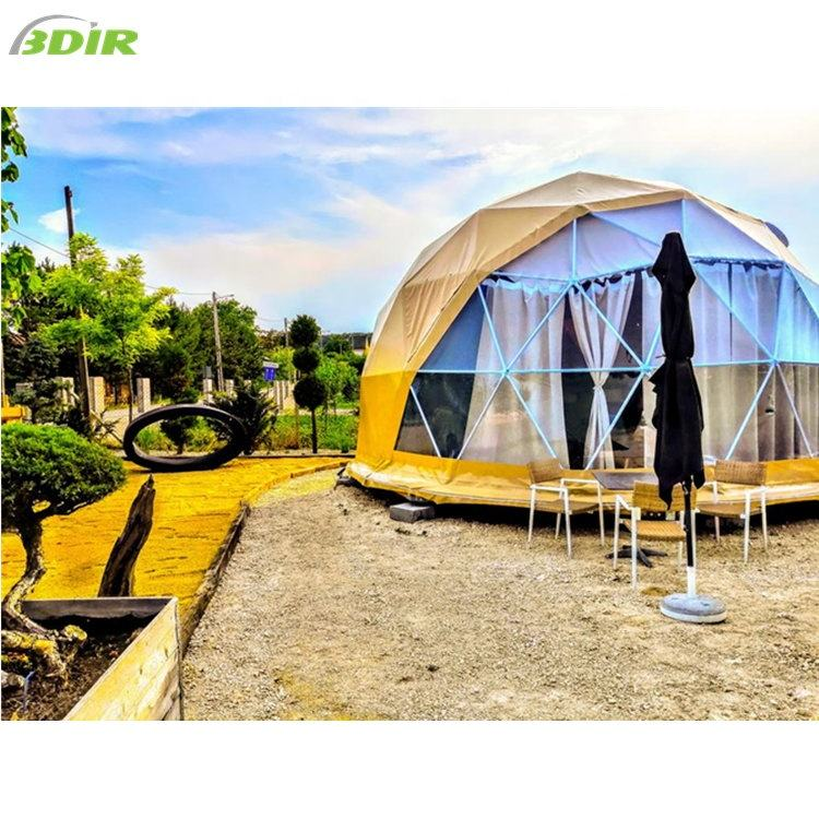 Factory Prices Luxury Glamping Resort Room With Dome Tented House Geodesic Geo Dome
