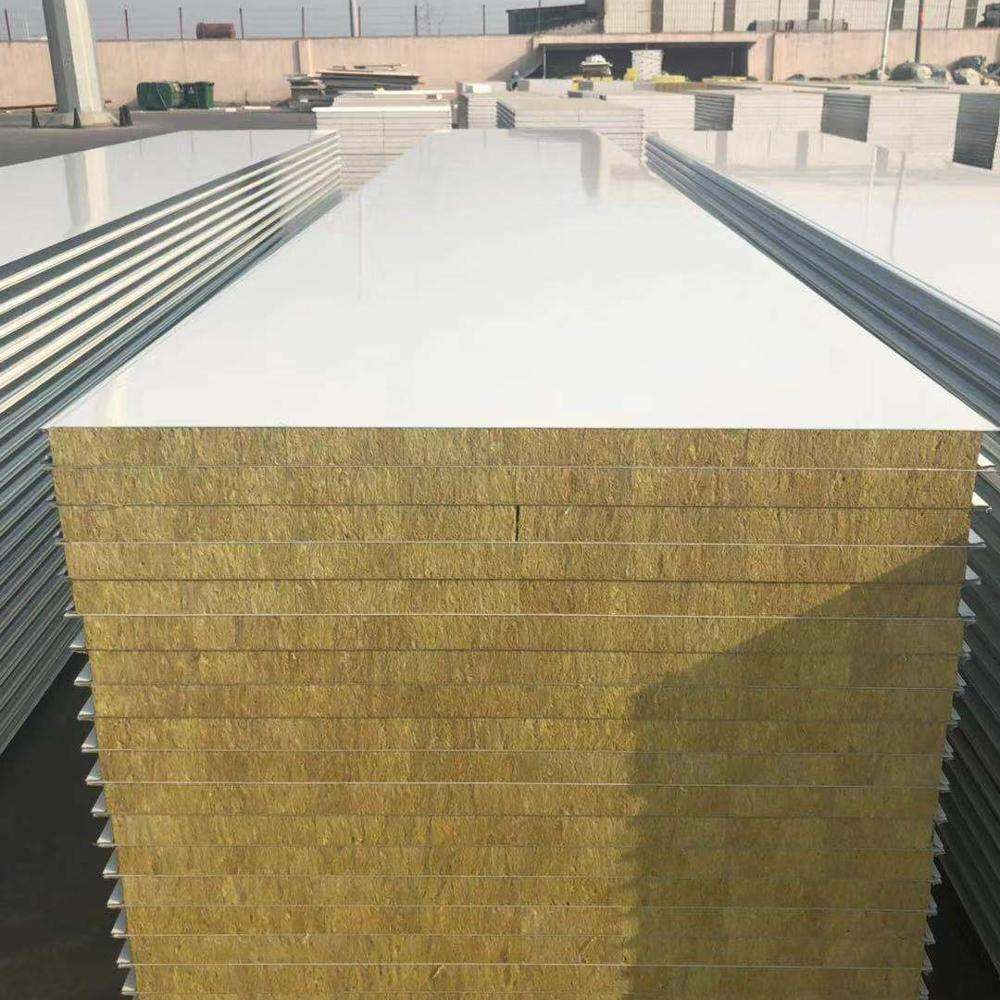 50mm/75mm/100mm/150mm Australian Style Z Lock Fireproof/Acoustic Absorption Rockwool Sandwich Panel for Wall and Roof