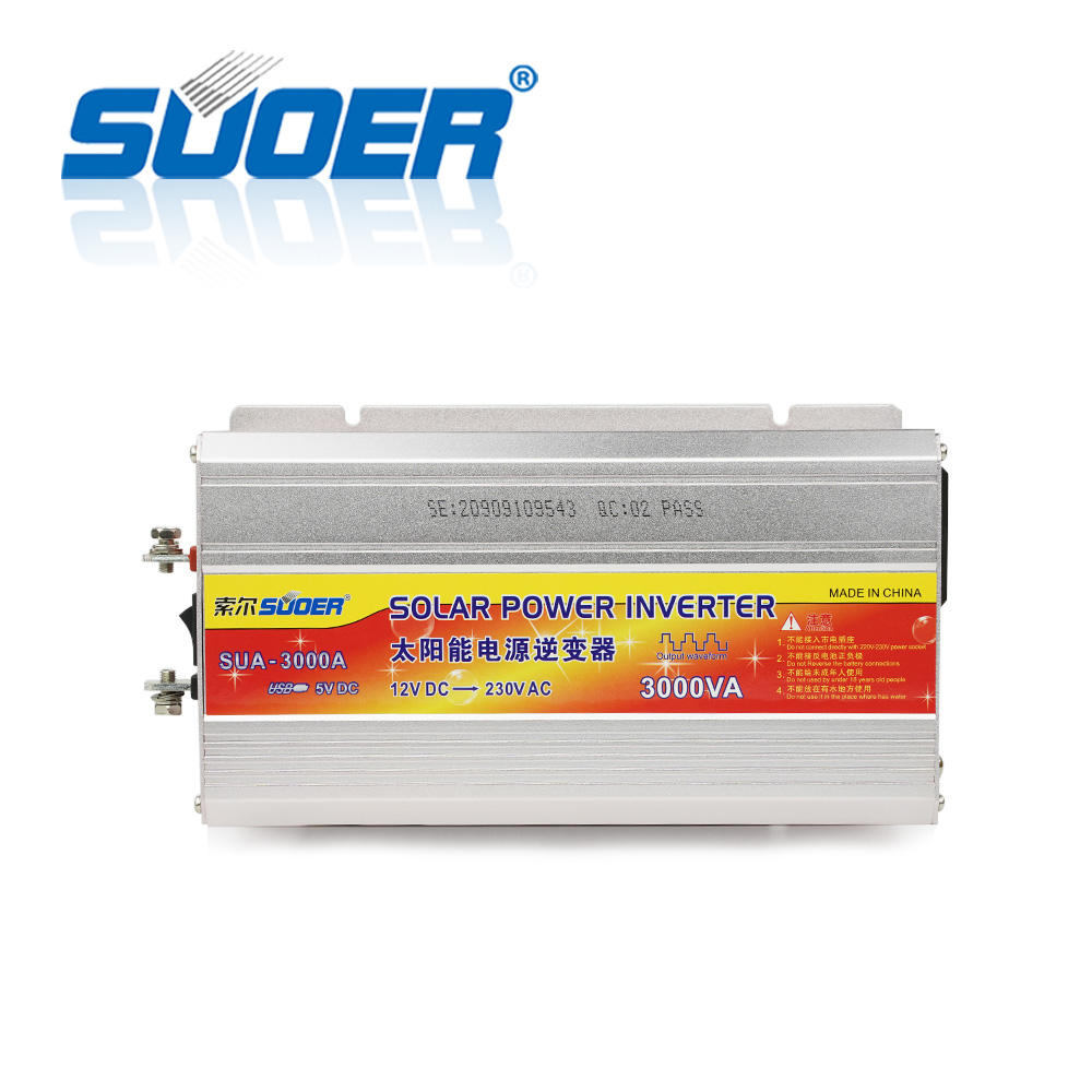 Suoer Intelligent 3000W DC 12V to AC 220V Modified Sine Wave 3000 Watt Power Inverter
