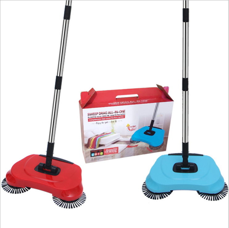 Spinning Cordless Lazy 3 in 1 Manual Floor Clean Machine Hand Push Sweeper Automatic Floor Magic Broom