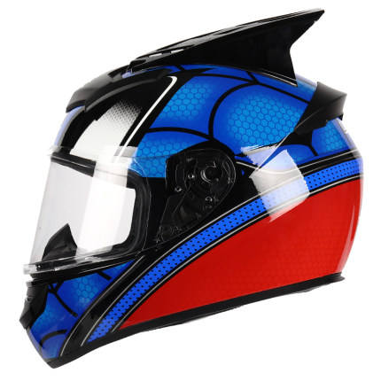 DOT Bluetooth Full Face Helmet Personality Corner Motorcycle Helmet