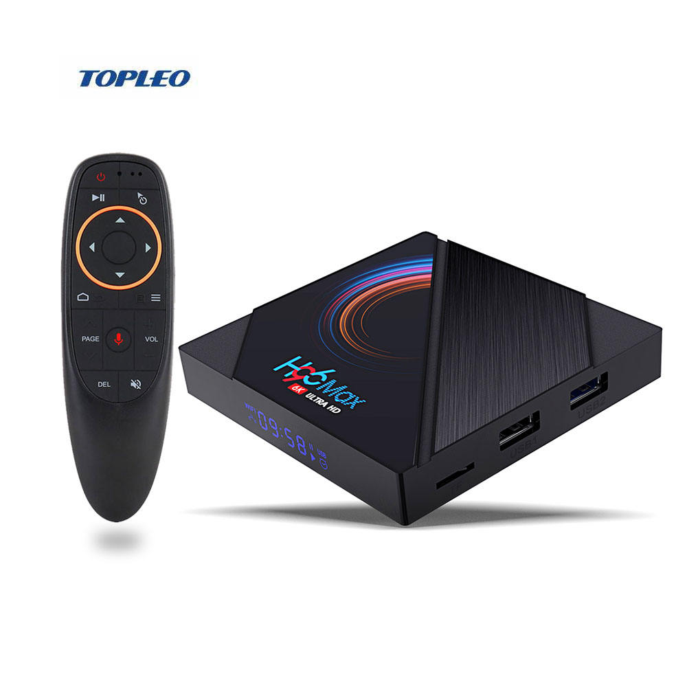 Internet set top box Kodi media player H96 Max H616 4K 6K android 10 smart TV Box with 2.4G / 5G WiFi