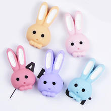 new arrival matte long ear rabbit shape resin cabochons for phone cover