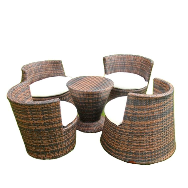 Wholesale 5pcs set outdoor patio rattan and chair outdoor rattan sofa set rattan coffee table