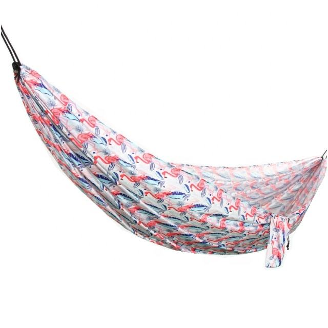 Single Polyester Photo Printing Camping Hammock For Children