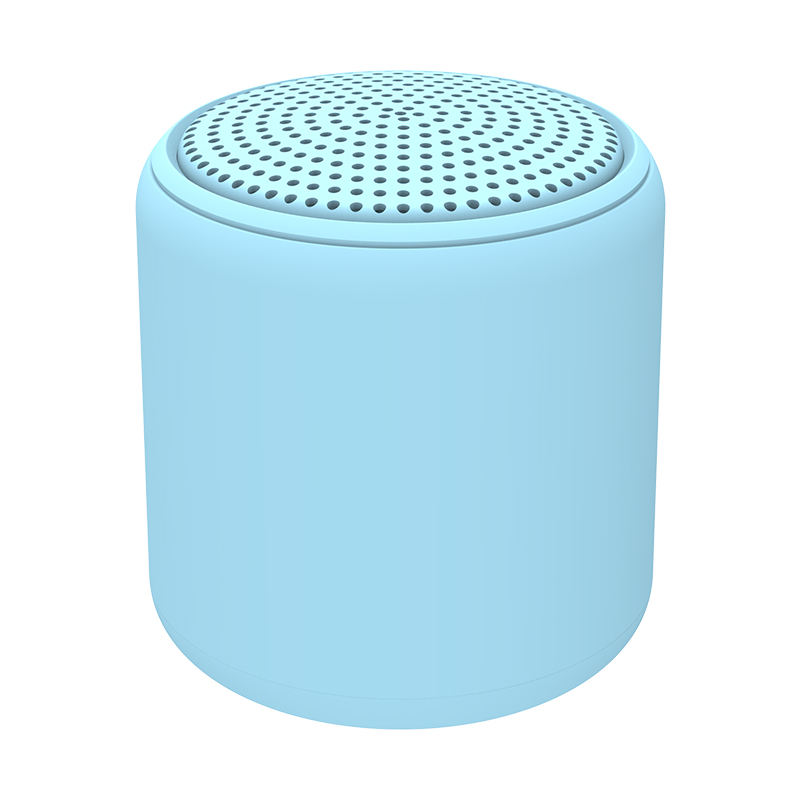 Wholesale price colorful fashion design bluetooth 5.0 round small portable wireless bluetooth speaker