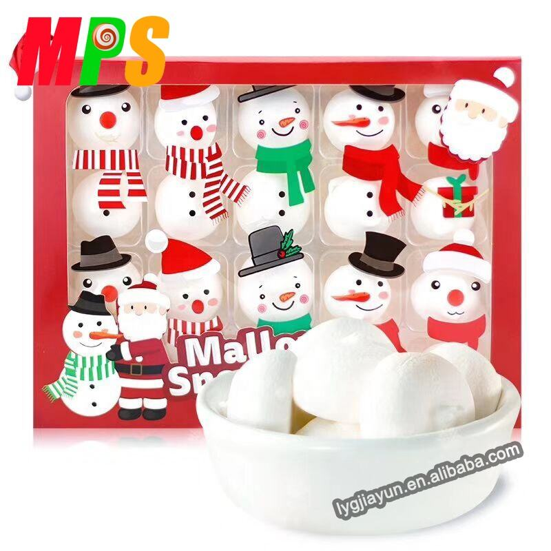 Personalized Snowman Marshmallow in Gift Shape Box