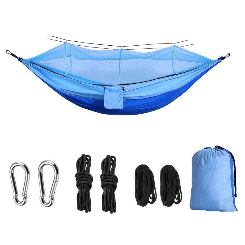 Outdoor Portable Nylon Camping Hammock With Mosquito Net With Good Quality