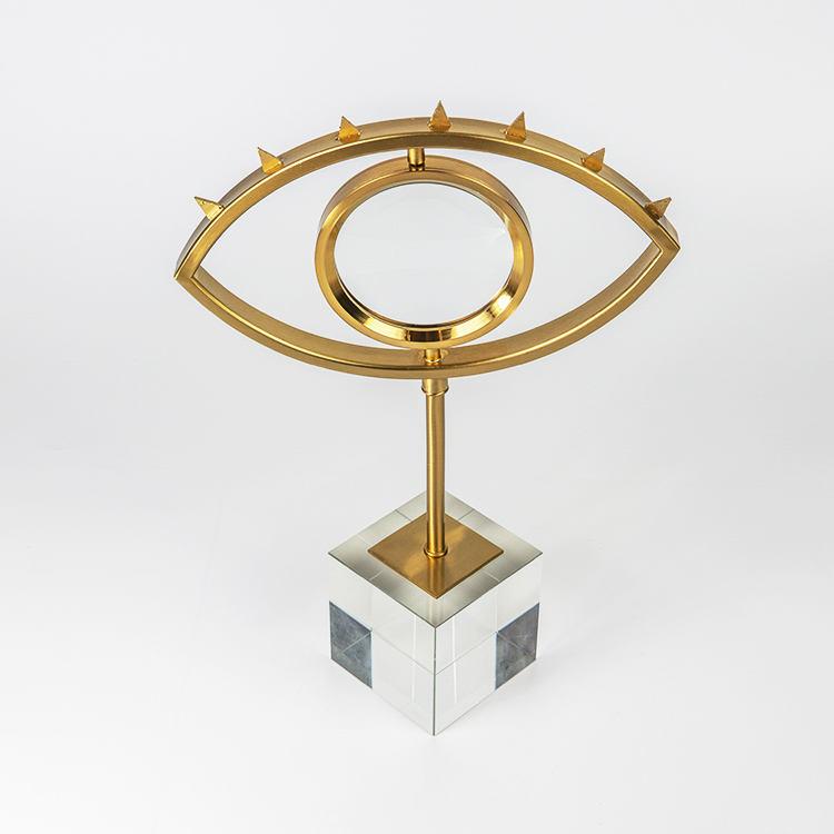 Nórdicos forma de ojo giratorio de Metal de oro Base de cristal MESA CENTRO DE MESA decoración de la <span class=keywords><strong>casa</strong></span>