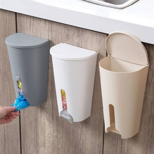 Home Garbage Bags Storage Rack Kitchen Bathroom Organizer Garbage Bag Home Organizer Box Storage Holder Cupboard Door Case