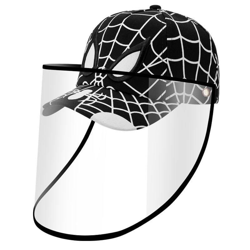 New Arrival Kids Removable Protective Baseball Hats for children anti splash protection face shield
