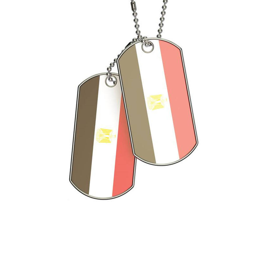 Vlag Dog Tags Militaire Custom Pet Id Tag Van Chinese Fabrikant