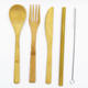 China Supplier Christmas Gift Customized Logo Utensil Packaging Camping Bamboo Cutlery Knife Fork And Spoon Set