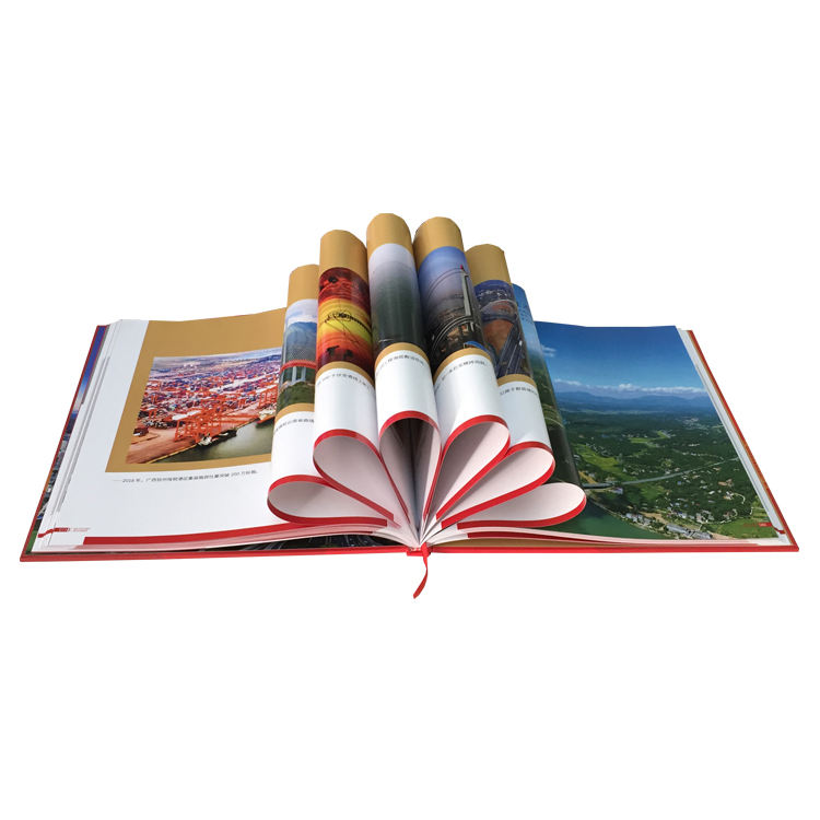 High quality handmade hardcover colorful book printing