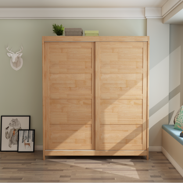 Best Selling Solid Wood Clothes Cabinet Bedroom Big Storage Wardrobe for Bedroom Use