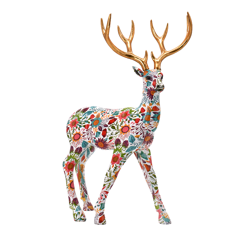 fashion resin animal decoration deer stand statue for home