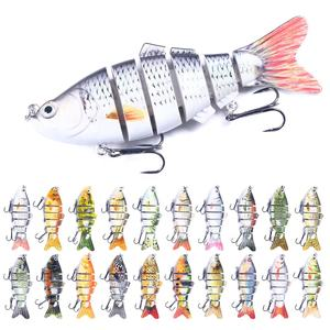 High quality 3D Eyes Wobbler Fish Crankbait Swimbait Isca Artificial Bait 10cm 18g Multi Jointed Fishing Lure