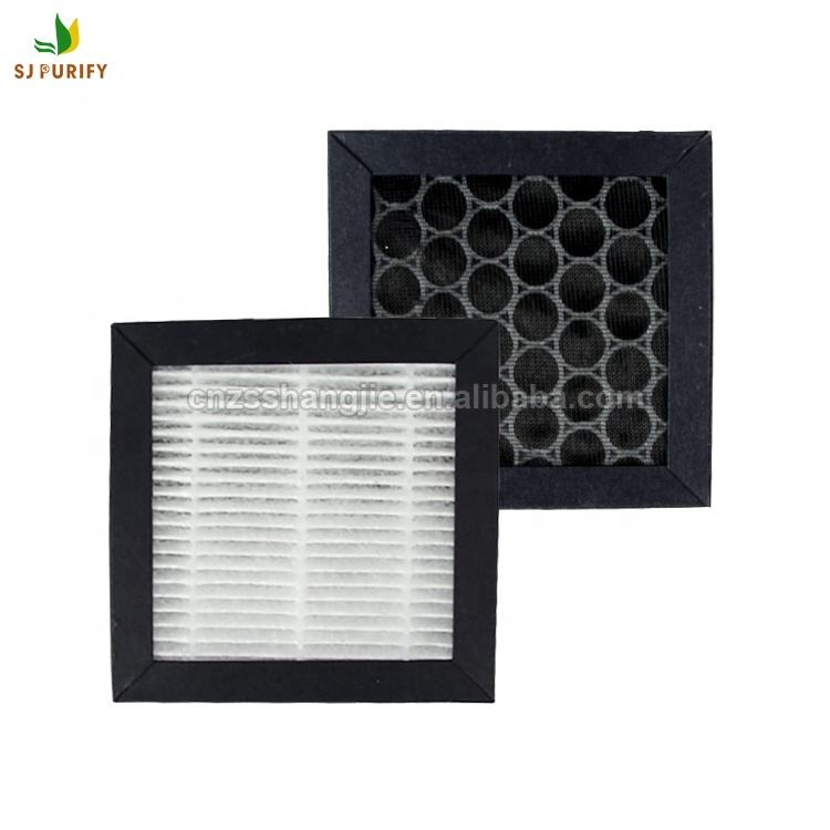 Removal smoking activated carbon hepa filter for car air purifier