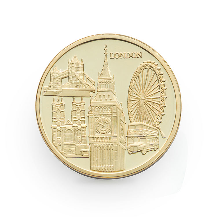 Custom Commemorate Tourism London Logo Metal pirate Gold Silver Souvenir UK Coins
