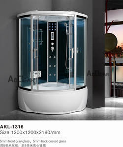 H AKL-1316 120*120*218cm Price Packages Aoclear Stylish Steam Utility Corner Shower Cubicles For Sale