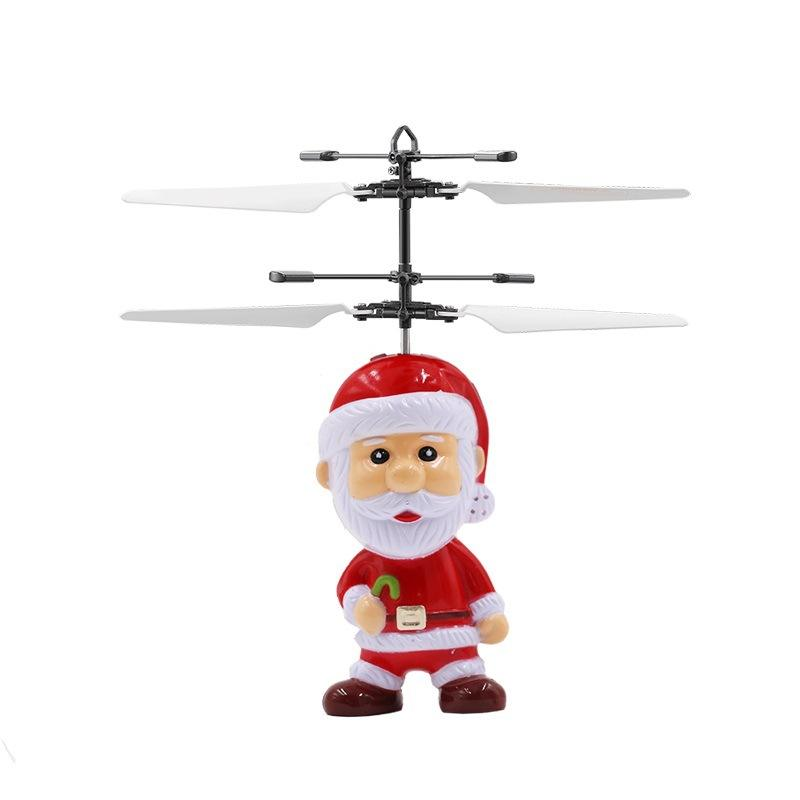Flying誘導Mini RC Drone Christmas父Santa Claus RCヘリコプターギフトマジックChristmasギフトSRC Aircraft用