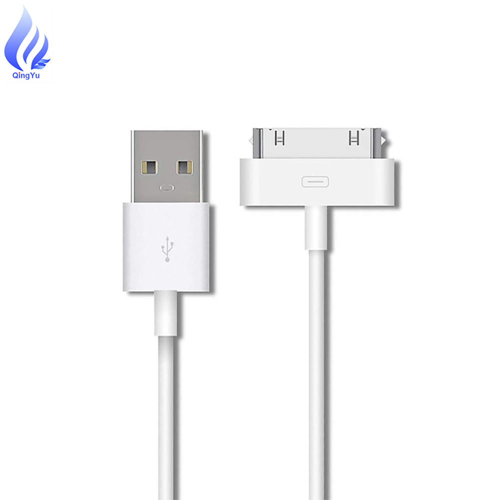 Commercio all'ingrosso Per il iphone 4 4 4s Adattatore di Ricarica Accessori Connettore del Cavo, per iPad 1/2/<span class=keywords><strong>3</strong></span> <span class=keywords><strong>iPod</strong></span> Sync di Ricarica Dati Cable_white