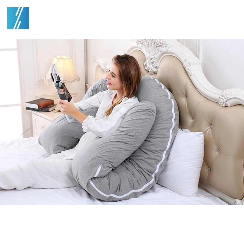 Factory Price Cotton Knitted Full Body Maternity Pregnancy Baby Pillow