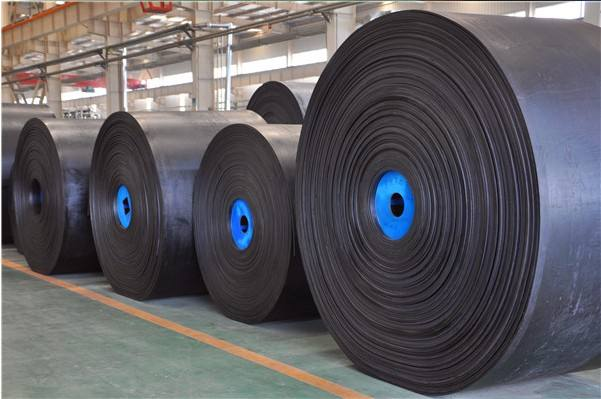 Rubber canvas conveyor belt for grain coal mineral of canvas nylon cloth