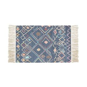 Geometric design rugs carpet popular tapestry cotton woven washable floor carpet