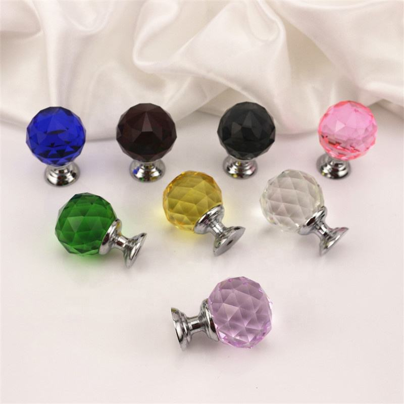 Cheap Price Crystal Knobs Crystal Furniture Knobs Crystal Glass Cabinet Handles Glass Handle for Door
