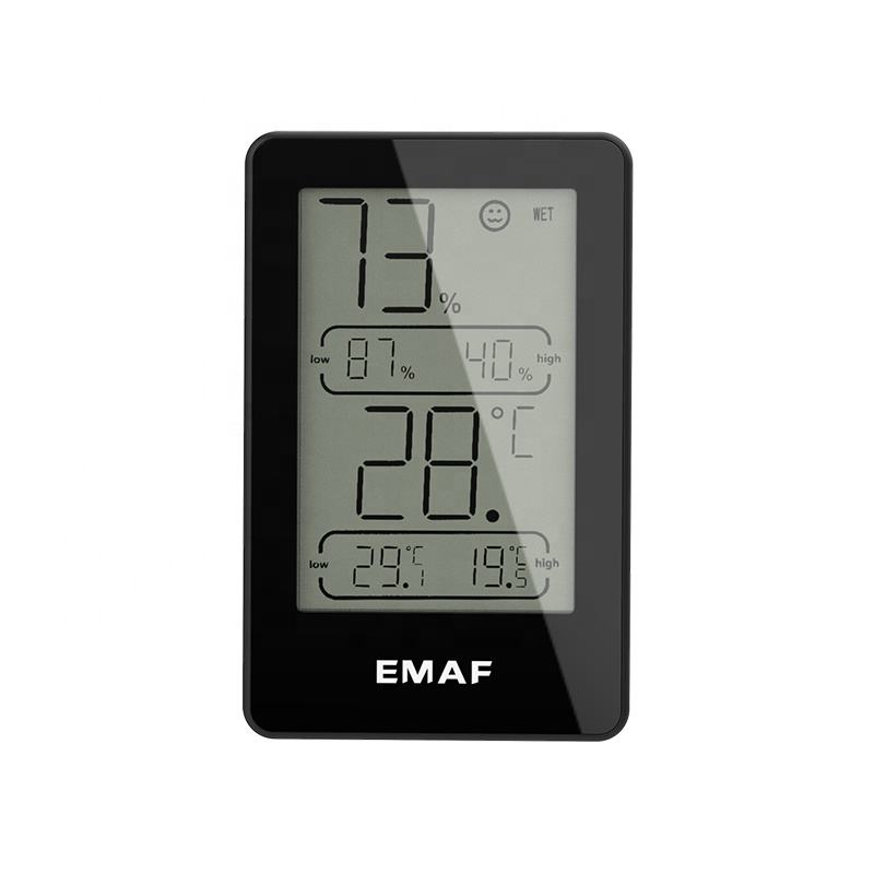 Little Digital Indoor Hygrometer Thermometer,Temperature and Humidity Gauge,3 level icon indicates,15s Refresh