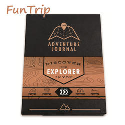 Adventurer Journal Travel Logue Trip creative discover gift Black-gold ver Funny scratch map