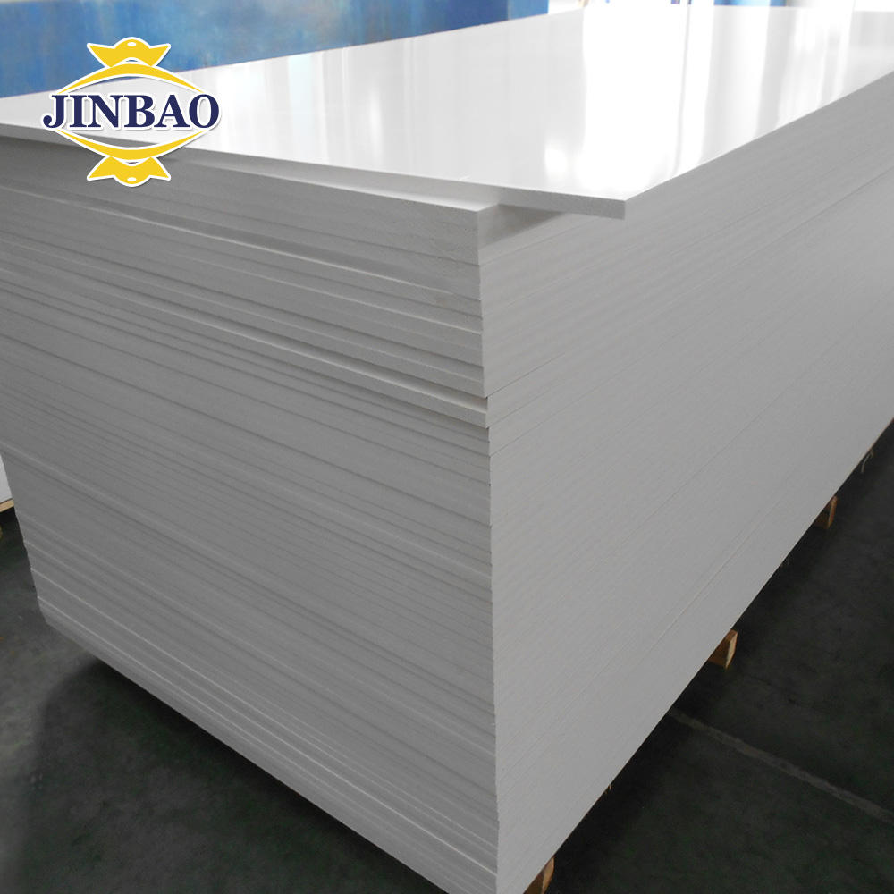 JINBAO factory 1220x2440mm 6mm 8mm celuka PVC board White color roofing sheets plastic foam forex rigid pvc