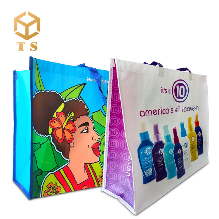 eco-friendly cheap promotional reusable recyclable PP material tote non woven supermarket bag shopping