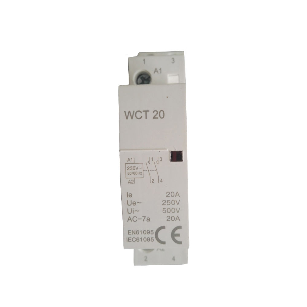high quality Manual 1p 2p 40a 63a WCT Contactor magnetic ac contactor price