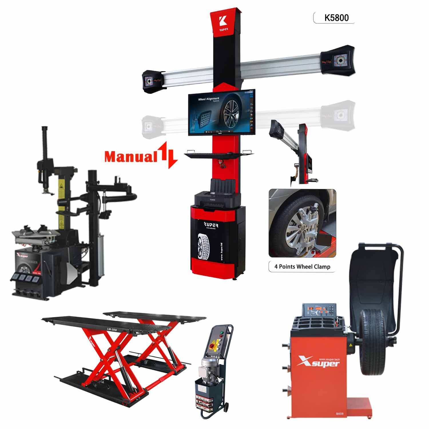 High Quality Garage Equipment Mix 3D Wheel Alignment
