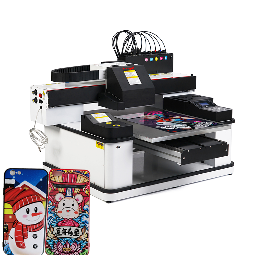 China 3 Printheads 6090 Large Format Mobile Phone Case Printing Machine Favorable Price Digital A1 Uv Flatbed Printer For Sale