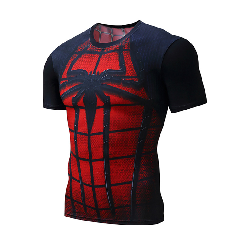 3D Printing Polyester Spandex Superhero Tight Sport Shirts
