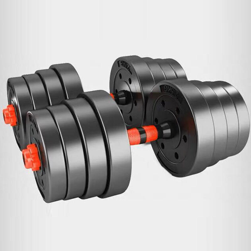 Fixed plastic hexagonal men's dumbbell free weights fitness dumbbells