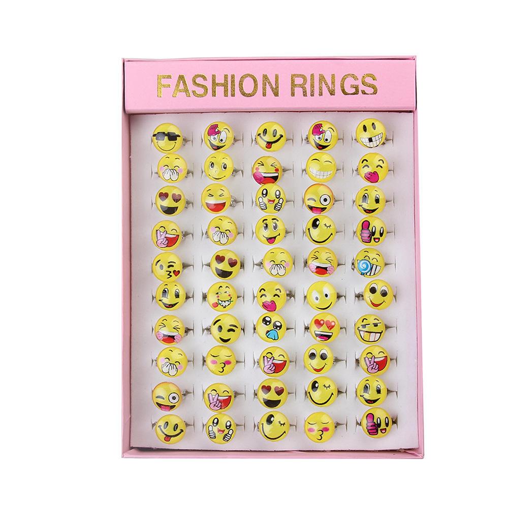 50 Stk Gemischt  Cartoon Tiere Damen Kinderring Schmuck Ringe Kinder Geschenk TO