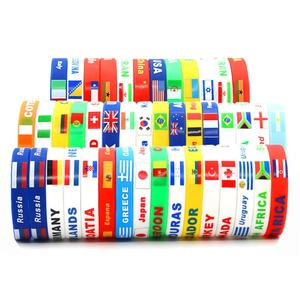 2020 tokyo sports competition flag silicone bracelet custom logo men rubber wristbands
