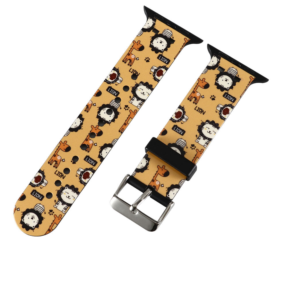 New Design Printing silicone rubber Watch Strap For Iphone Watch Band Mix Design