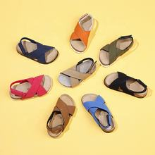 Hot High Quality Magic Sticker Kids Summer Sandal Shoes Cork Soles Comfortable Sandals