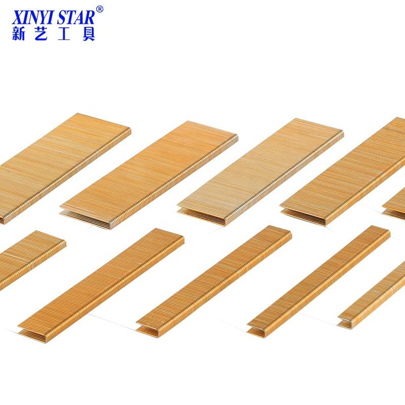 XINYI Best selling 90 staples industrial wooden staples nail gun nail 9010-9040 K410-K440