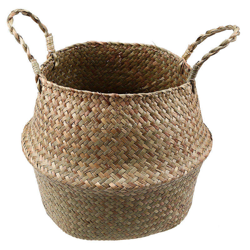 Wholesale Multi Flower Plants Pots Laundry Storage Bathroom Garden Decors for Seagrass Belly Basket
