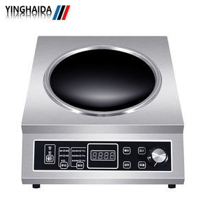 Home Appliance Stainless Steel knob Portable Wok Induction Cooker 3500w Table Top
