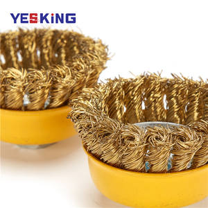 Wire Brush Copper Copper Wire Brush Latest Design Industrial Polishing Brass Coated Steel Wire Cup Brush Copper Coated Wire Cup Wheel Brush